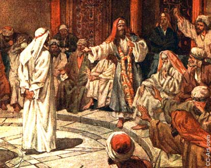 The high priest accuses Jesus of blasphemy
